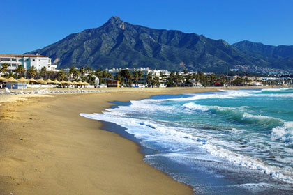 Strand in Andalusien (Marbella)